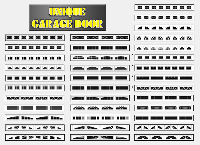 Unique Garage Doors Window Designs
